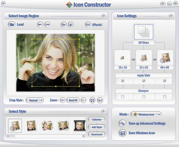 Скриншот программы Icon Constructor.