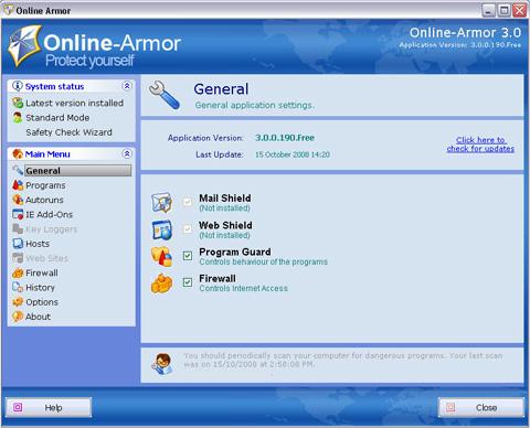 ONLINE-ARMOR FREE 7.0