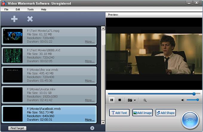 ������ Video Watermark Pro ������� ������� ��� �������