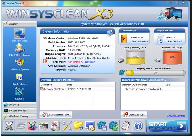 system information - WinSysClean X3 (24 Saat Kampanya)