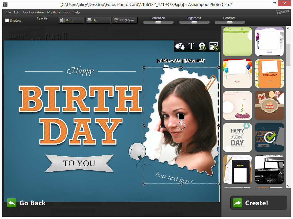 Giveaway of the day free licensed software daily ashampoo photo ashampoo photo card is the intuitive and straightforward solution to turn your photos into stunning greeting cards complete with borders and texts in a few kristyandbryce Image collections