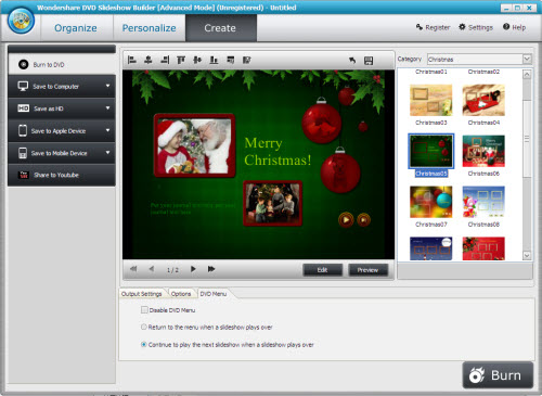 free wondershare dvd slideshow builder full version